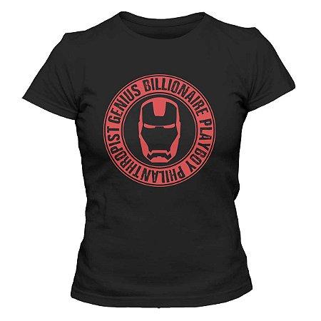 Camiseta Feminina Homem de Ferro - Genius