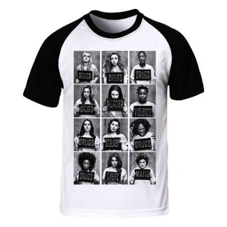 452f5b5d5 Camiseta Raglan Orange is the New Black - Mugshot - Blitzart ...
