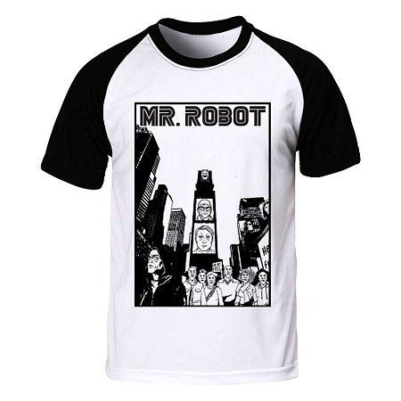 Camiseta Raglan Mr. Robot - City