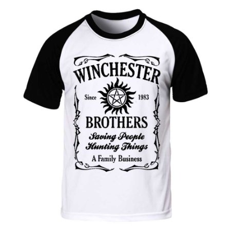Camiseta Raglan Supernatural - Winchester Brothers