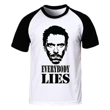 Camiseta Raglan Dr. House - Everybory Lies