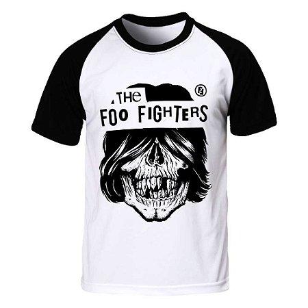 Camiseta Raglan Foo Fighters - Skull