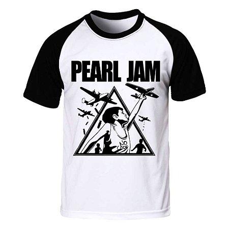 Camiseta Raglan Pearl Jam - No Code