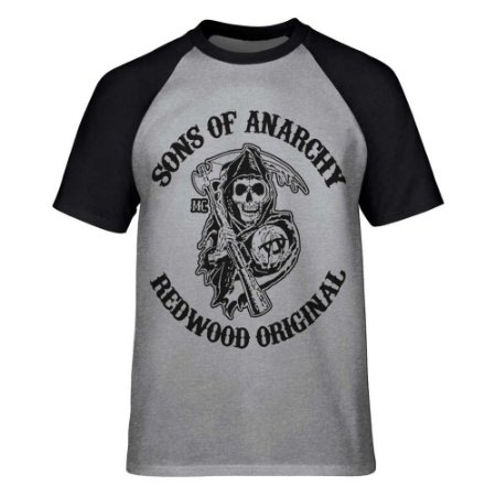 Camiseta Raglan Sons of Anarchy - Redwood Original
