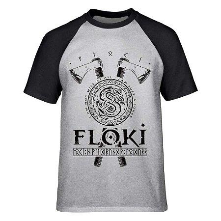 Camiseta Raglan Vikings - Floki