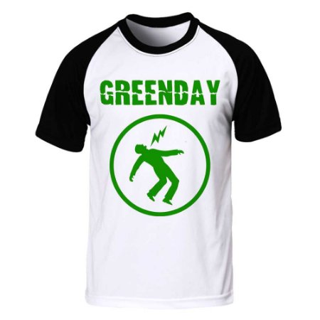 Camiseta Raglan Green Day - Warning
