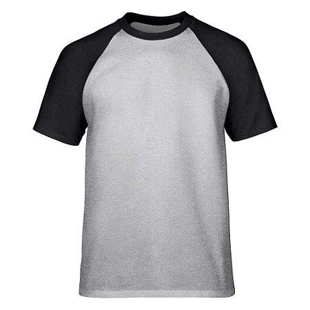 Camiseta Raglan Lisa Masculina - Mescla