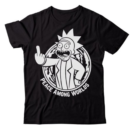 Camiseta Rick and Morty - Peace