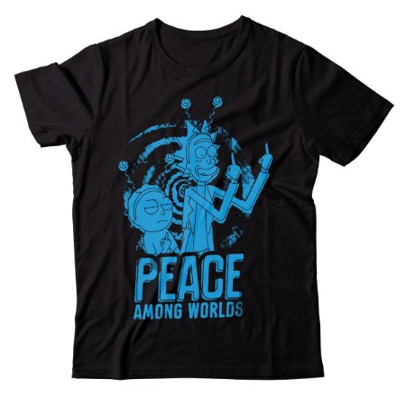 Camiseta Rick and Morty - Peace Among Worlds