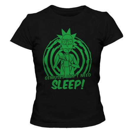 Camiseta Feminina Rick and Morty - Don't Sleep