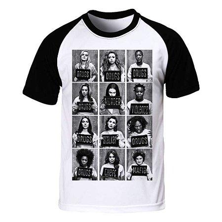 Camiseta Masculina Raglan Orange is the New Black - BKF