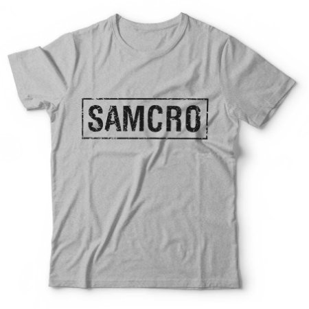 Camiseta Masculina ons of Anarchy - SAMCRO Cinza - BKF