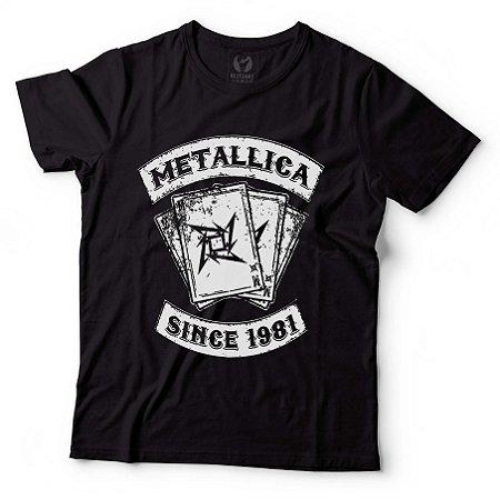 Camiseta Masculina Metallica - BKF