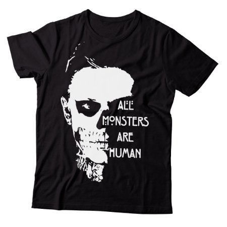 Camiseta Masculina America Horror Story - All Monsters - BKF