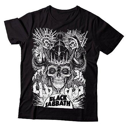 Camiseta Masculina Black Sabbath - Skulls - BKF