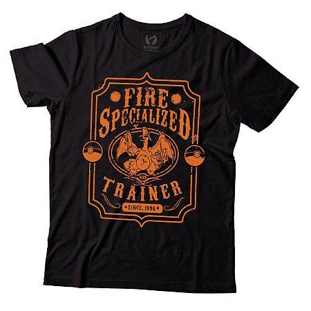 Camiseta Masculina Pokemon -Fire Specialized - BKF