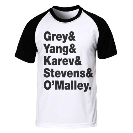 Camiseta Raglan Grey's Anatomy - Letters