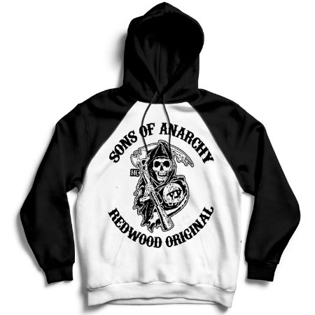 Moletom Raglan Sons of Anarchy - Redwood Original