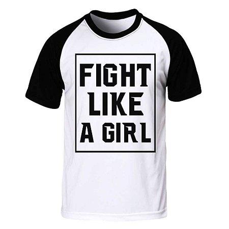 Camiseta Raglan Fight Like a Girl