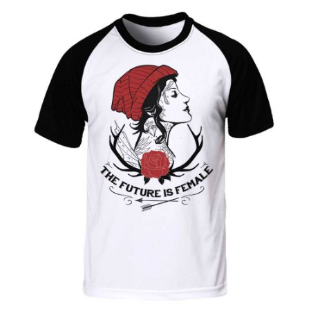 Camiseta Raglan Future is Female - Girl