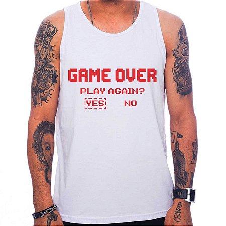 Regata Masculina Game over - Play Again?