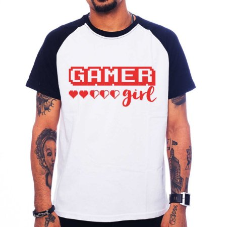 Camiseta Raglan Gamer Girl