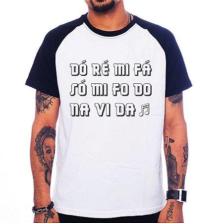 Camiseta Raglan Do ré mi fa