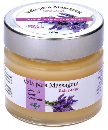 Arte dos Aromas Vela para Massagem Relaxante com Óleos Essenciais 100g