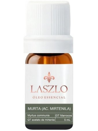 Laszlo Óleo Essencial de Murta QT Acetato de Mirtenila GT Marrocos 5ml