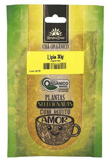Kampo de Ervas Chá de Lipia Orgânico Fracionado 30g