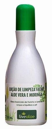 Livealoe Loção de Limpeza Facial Aloe Vera e Moringa 210ml