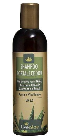Livealoe Shampoo Fortalecedor com Aloe Vera 240ml