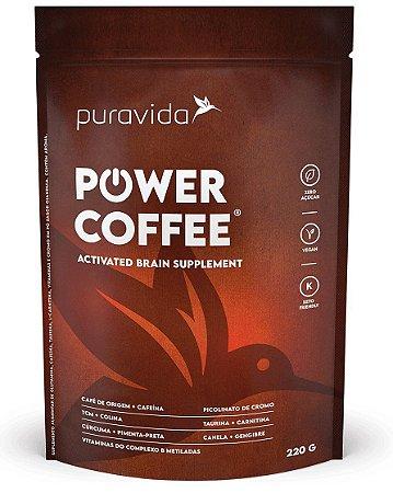 Puravida Power Coffee - Suplemento Alimentar com Café, Curcumax, TCM e Vitaminas 220g