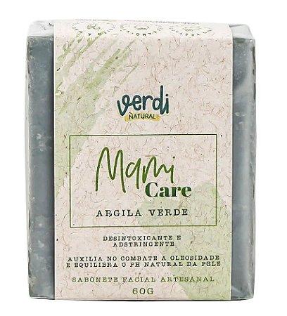 Verdi Natural Sabonete Facial Desintoxicante e Adstringente Argila Verde Mami Care 60g