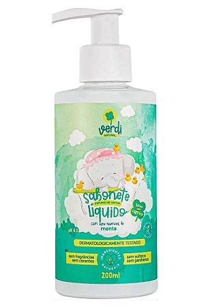 Verdi Natural Sabonete Líquido e Shampoo Espuma de Vapor com Óleo de Menta 200ml