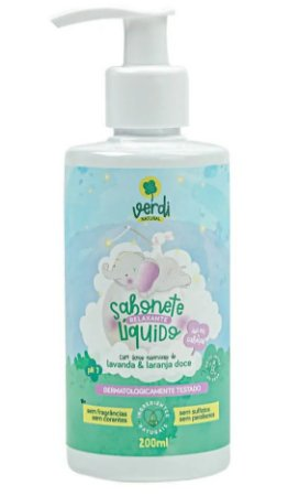 Verdi Natural Sabonete Líquido e Shampoo Relaxante com Lavanda e Laranja Doce 200ml