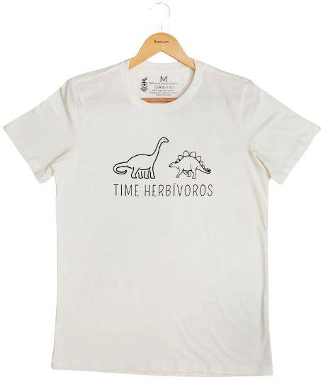 Agora Sou ECO Camiseta 100% Algodão Orgânico - Herbívoros - Off White 1un