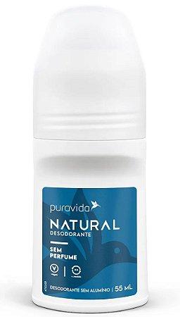 Puravida Desodorante Natural Roll-on Sem Perfume 55ml