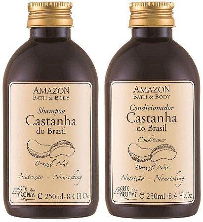 Arte dos Aromas Kit Capilar Castanha do Brasil Nutritivo - Shampoo + Condicionador
