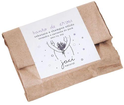 Jaci Natural Sabonete e Shampoo Sólido Banho de Ervas - Lavandin e Castanha 95g