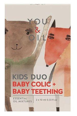 You & Oil Kids Kit Cólica Infantil + Primeiros Dentes - Blend Bioativo de Óleos Essenciais