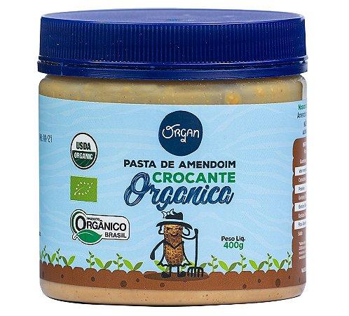 Organ Pasta de Amendoim Crocante Orgânica
