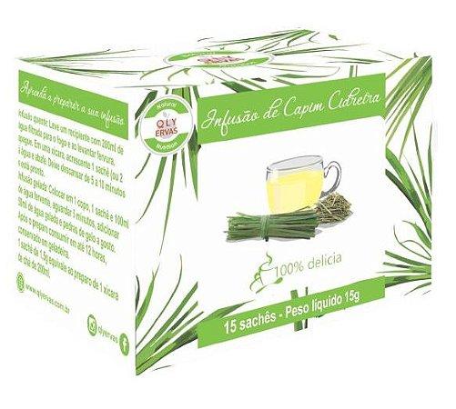 QLY Ervas Chá de Capim Cidreira Caixa 15 Sachês