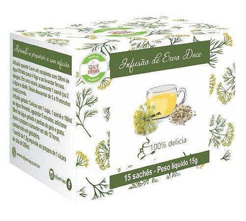 QLY Ervas Chá de Erva Doce Caixa 15 Sachês