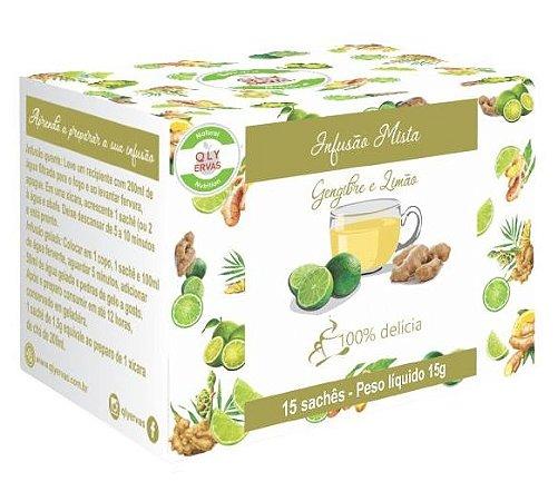 QLY Ervas Chá de Gengibre com Limão Caixa 15 Sachês