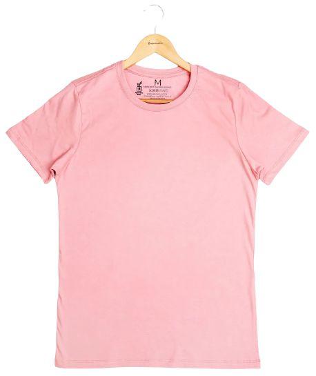 Agora Sou ECO Camiseta 100% Algodão Orgânico - Sem Estampa - Rosa 1un