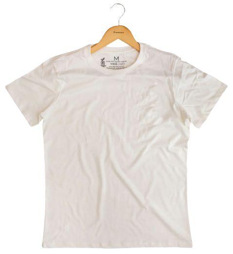 Agora Sou ECO Camiseta 100% Algodão Orgânico - Sem Estampa - Off White 1un
