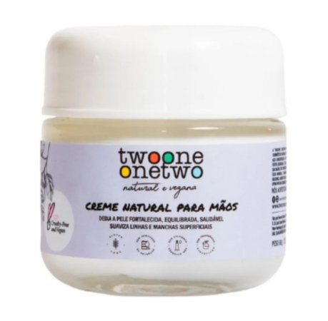 Twoone Onetwo Creme Natural Para Mãos 60g
