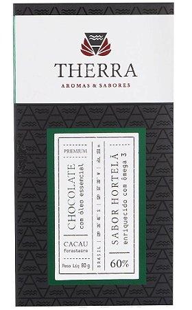 Therra Chocolate Gourmet Vegano 60% Sabor Hortelã com Ômega 3 80g