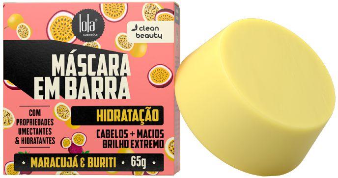 Lola Máscara Capilar em Barra Hidratação com Maracujá e Buriti 65g